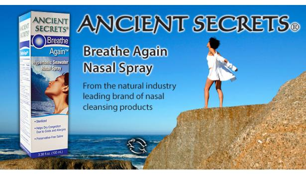 Ancient Secrets Breathe Again Nasal Spray