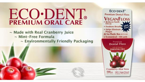 ECO-DENT Cranberry Aloe Vegan Floss