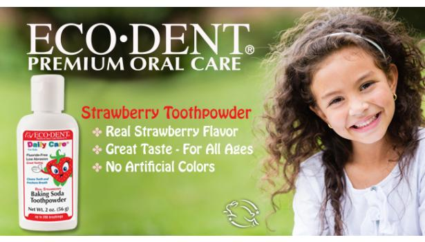 ECO-DENT Strawberry Toothpowder for Kids