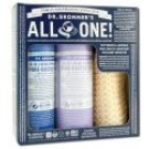 Dr. Bronners Gift Set Peppermint and Lavender Loofah Gift Set 3 pc