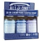 Dr. Bronners Gift Set 3 pack Gift Set - 2 oz Liquid Soaps