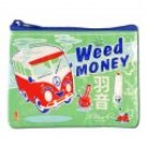 "Coin Purse 4.3"" x 3.2"" Weed Money"