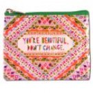 "Coin Purse 4.3"" x 3.2"" Youre Beautiful"