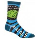 Mens Crew Socks Outta My Way Mortals