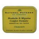Essential Oil Patch Tins Chamomile Headache and Migraine 10 ct