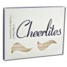 Candles 3 Inch Hand Dipped - Glitter White Silver Glitter
