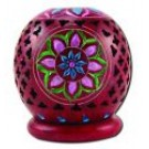 Incense Holders & Burners Globe Red T-Light Soapstone Lamp 3""