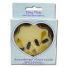 Flower Shape Terra Cotta (3-3\/8 in x 1 in) Flower Candles Ylang Ylang