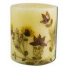 3 in Pillar (2-3\/4 in x 3 in) Flower Candles Cinnamon