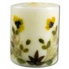 3 in Pillar (2-3\/4 in x 3 in) Flower Candles Sandalwood