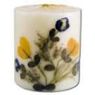 3 in Pillar (2-3\/4 in x 3 in) Flower Candles Vanilla