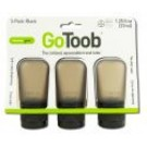 go Toob Small 1.25 oz Black\/Black\/Black 3 pk