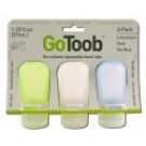 go Toob Small 1.25 oz Clear\/Green\/Blue 3 pk