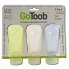 go Toob Medium 2 oz Clear\/Green\/Blue 3 pk