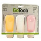 go Toob Medium 2 oz Clear\/Orange\/Red 3 pk