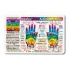 Original Wallet Cards Hand Reflexology (rainbow coded)
