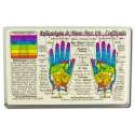 Original Wallet Cards Hand Reflexology (Rainbow)\/SPANISH