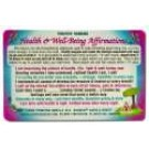 Original Wallet Cards Health Affirmations