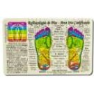 Original Wallet Cards Foot Reflexology\/Spanish